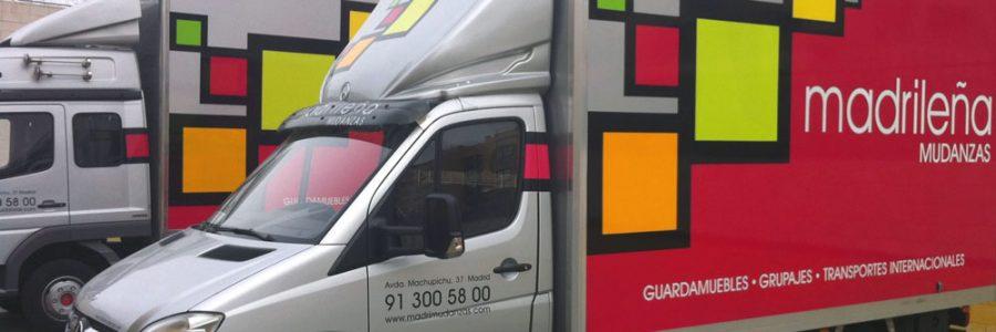 traslado madrid camiones